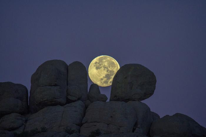 21. Moon Behind Wichita Mountains