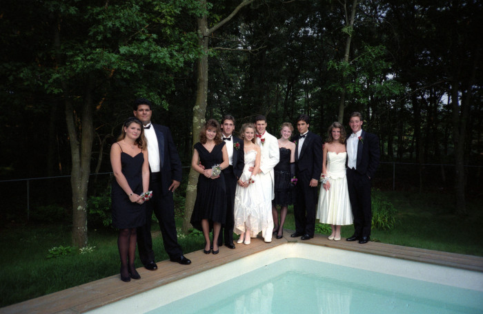 7. Part of prom always meant meeting before at a friend's house for parents to take pictures...lots of pictures.