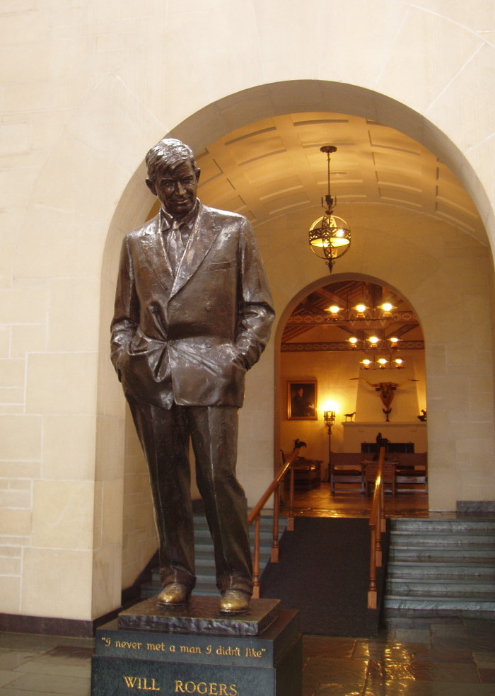 """13. For the famous quote by """"Oklahoma's Favorite Son,"""" Will Rogers - """"I never met a man I didn't like."""""""