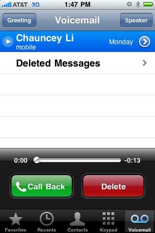 3. And Voicemail.
