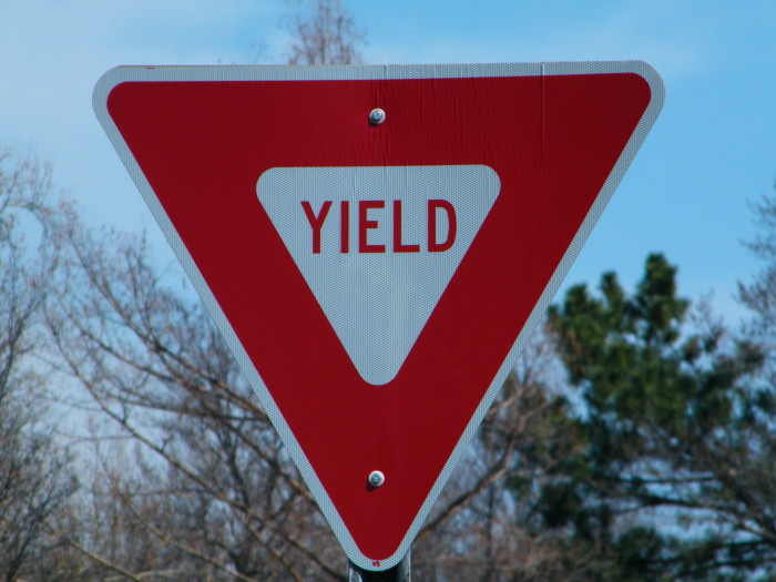 2. And the Yield Sign.