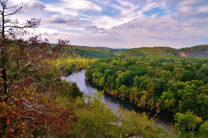 18. All the colors of fall and lush greenery make Broken Bow picturesque.