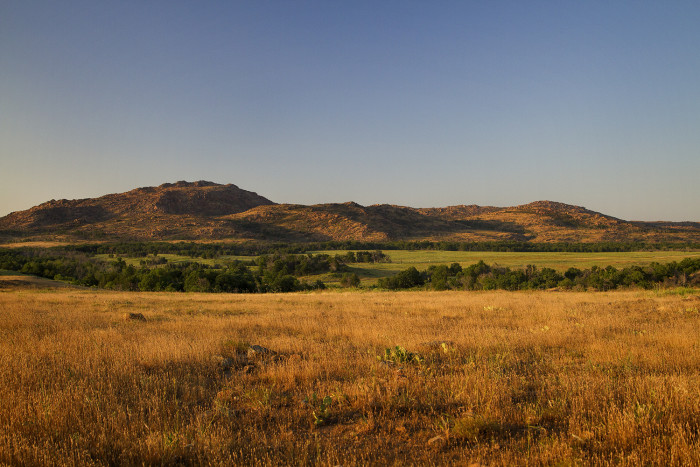 7. Southwestern Oklahoma- full of rolling hills, green trees and peaceful fields.