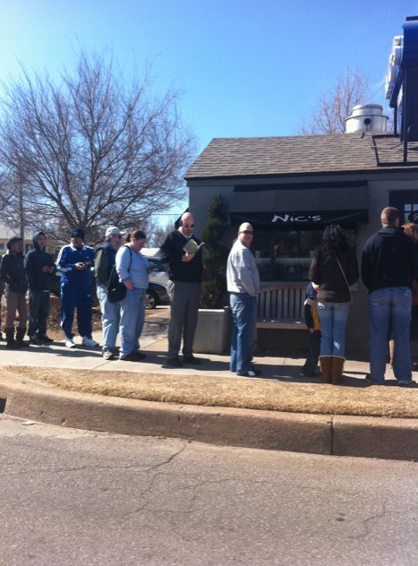 4. Stand in line at Nic's Grill in Oklahoma City for a mouthwatering burger.