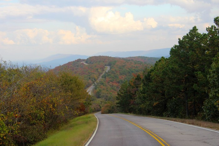 1. Drive the Talimena National Scenic Byway and enjoy the beautiful scenery.