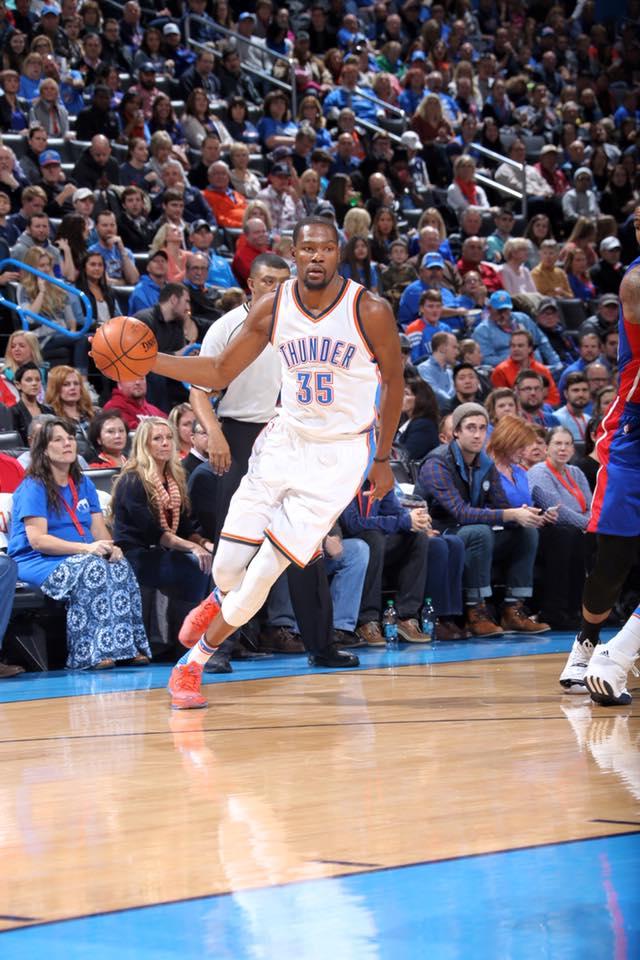 25. Attend an Oklahoma City Thunder basketball game.