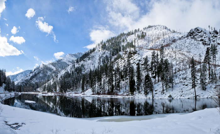 15. This lovely winter scene was captured looking across the Wenatchee River from Highway 2, just north of Leavenworth!