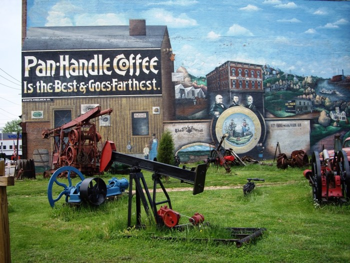 10. This mural is on the side of the Oil & Gas Museum in Parkersburg.
