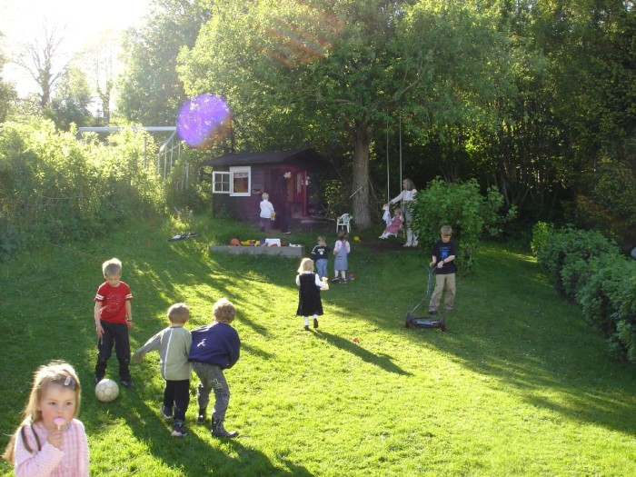 1. Summer evenings meant playing tag or hide-and-seek with the neighborhood kids.