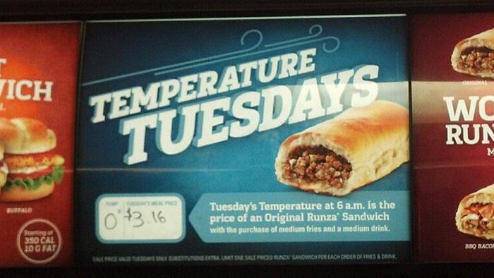 12. Temperature Tuesdays.
