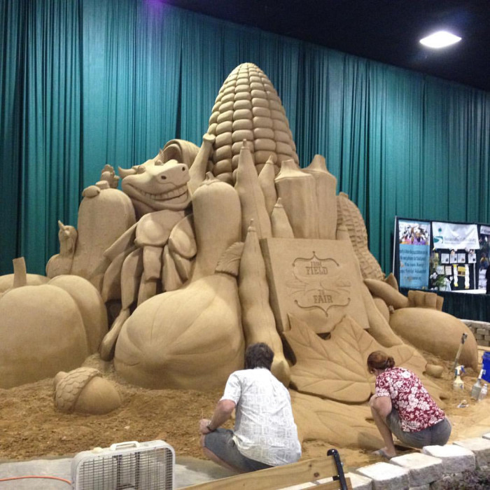 9. Sand Sculptures at the South Carolina State Fair - Columbia, SC