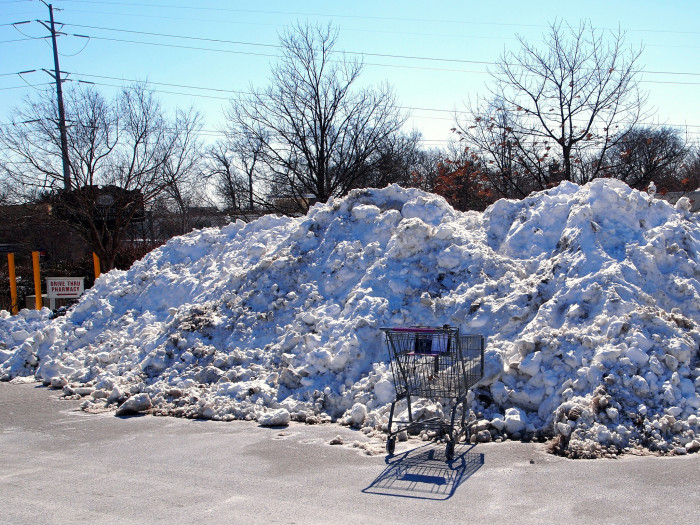 15. I really can't wait until the snow is piled into 10-foot high drifts in the parking lot where it will sit getting dirtier and dirtier until it finally melts in March.