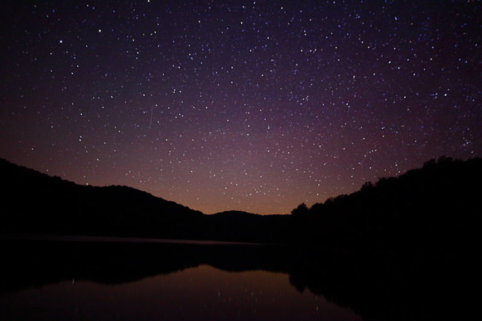 5. Check out Summit Lake when the stars are reflecting off it