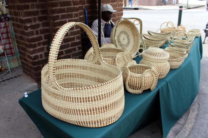 2. Sweetgrass Basket Makers - Charleston's City Market