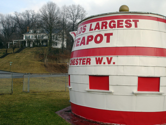 7. Have tea in Chester, home of the world's largest tea pot.