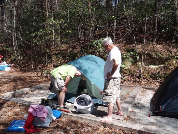 tent-camping-devils-fork-state-park-south-carolina