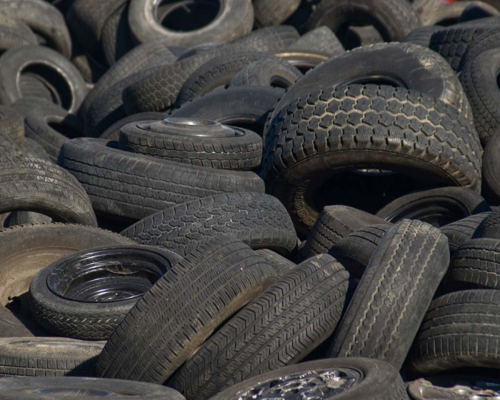 6. South Carolina used to have a tire pile you could see from space.