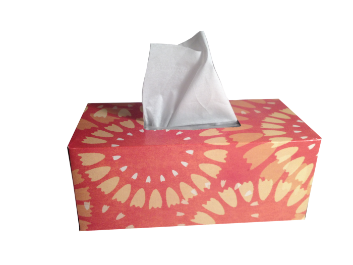 7. Add a few drops of essential oil to the inside of your tissue box and help clear up any congestion!
