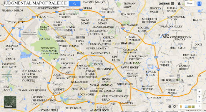 1. This judgmental map of Raleigh.