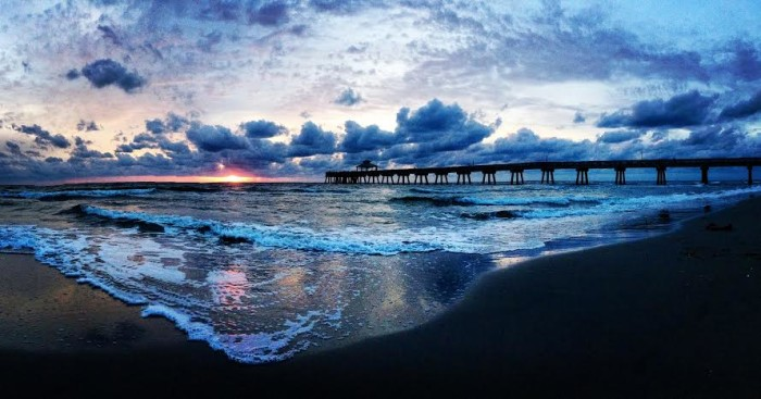 20. Last but not least, Erin Ryan sent us two amazing shots of the Deerfield Beach Pier.