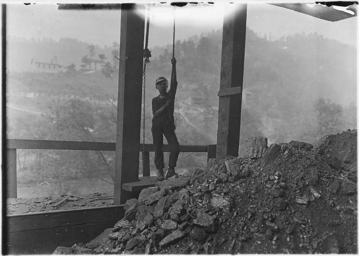 4. Here's a shot of a boy, who looked to be about 13 years old, working at the Welch Mining Company in Welch circa September 1908.