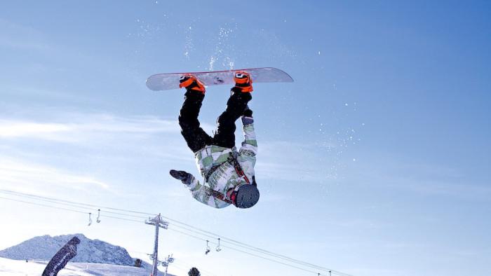 5.Snowboarding.