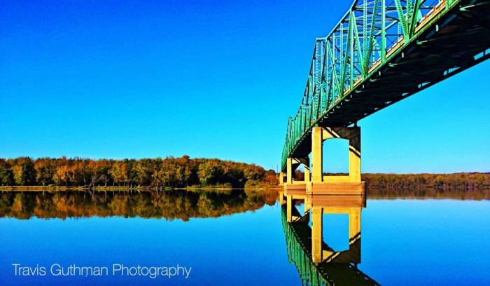 1. What an absolutely fabulous shot of the Route 17 bridge over the Illinois River!