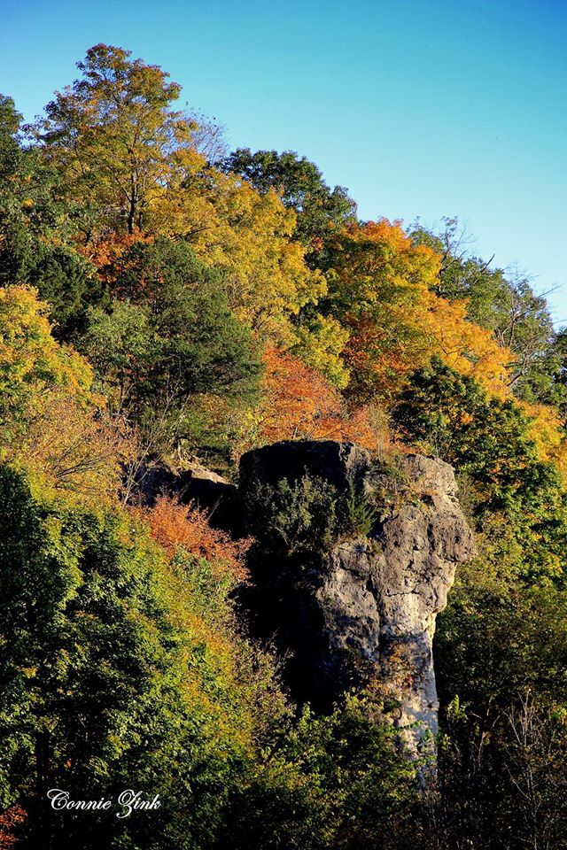 2. What a great shot of the iconic Indian Head Rock at Mississippi Palisades State Park in Savanna.