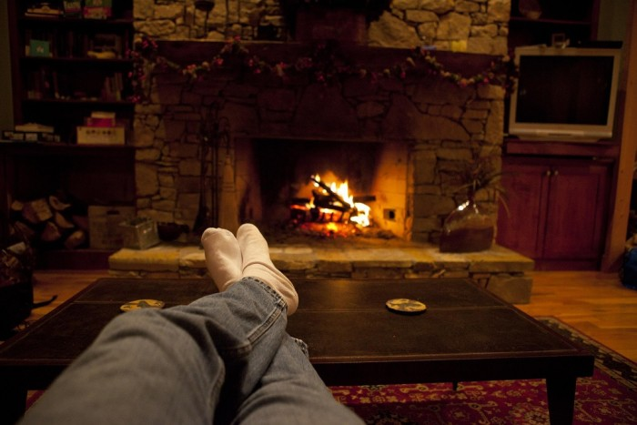 3. It is great to curl up next to a fire with a good book during the winter.