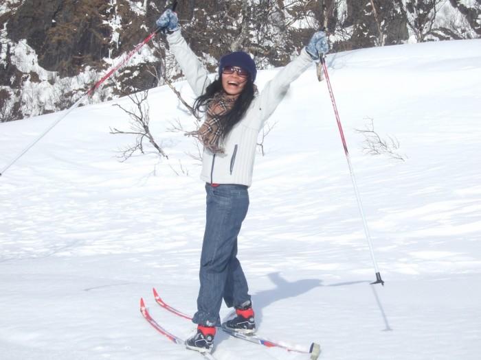 4. Yay! I can finally go skiing!