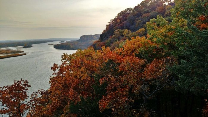 3. Ferry Bluff in Sauk County affords some killer views.