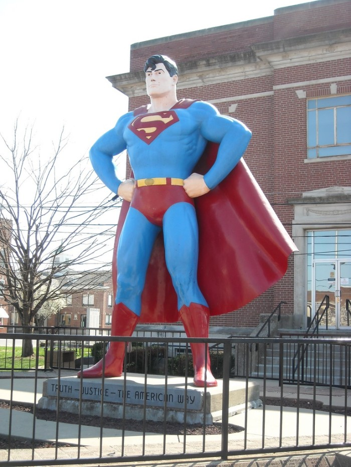 3. The Superman statue never ceases to amaze.