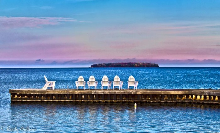 6. It may be getting very chilly in Door County, but that doesn't mean that it's not a great time to catch the sun.
