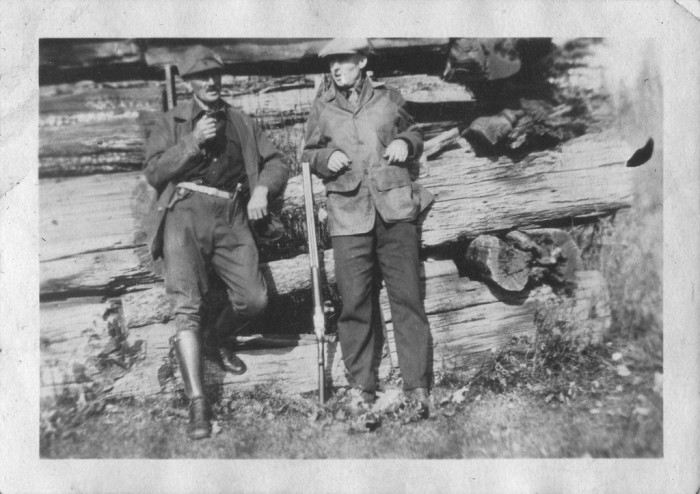 3. Here are some old time hunters taking a break from the action.