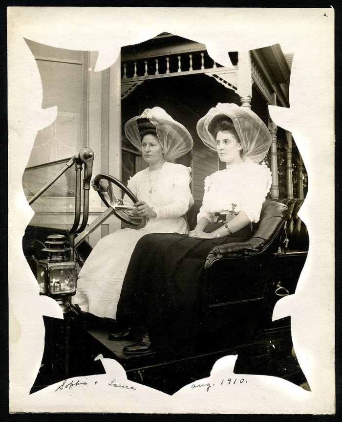4. These ladies are modelling a brand new car.