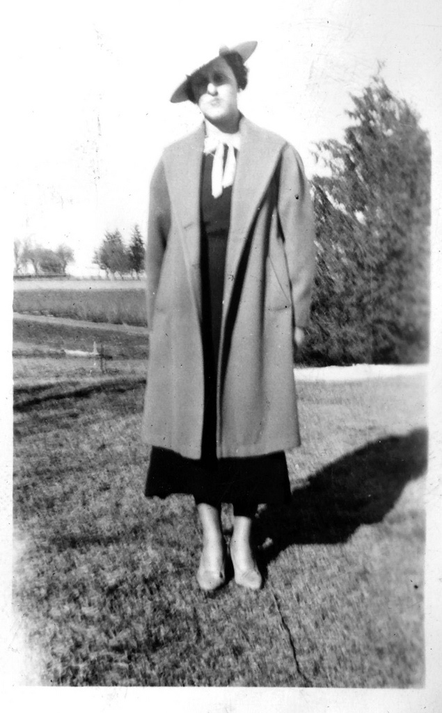6. This Wisconsin woman is wearing a very nice jacket. Exact year unknown.