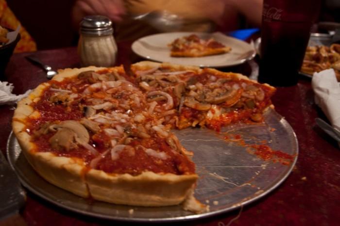 4. We developed deep dish pizza.