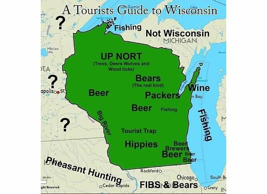 Maps Of Wisconsin That Are Just Too Perfect And Hilarious - Maryland map funny