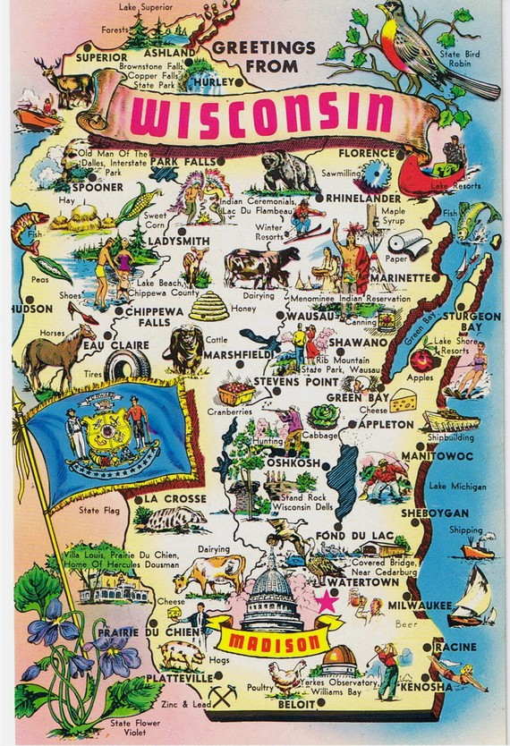 Maps Of Wisconsin That Are Just Too Perfect And Hilarious - Wisconsin maps