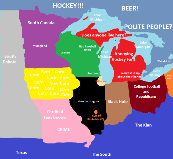 6. This is how Chicagoans view the Midwest.