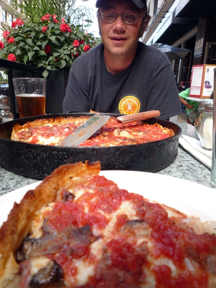 2. Do you only eat deep dish pizza there?
