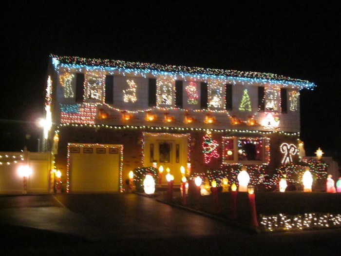 3. People go nuts celebrating their holiday of choice. We love people's proud displays.