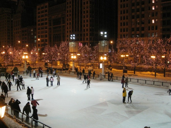 4. Outdoor ice skating at places like Millennium Park are just so great this time of year.