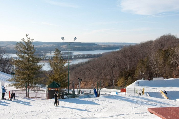 5. If there's snow, that means that there is skiing. Head to one of your favorite Illinois ski hills.