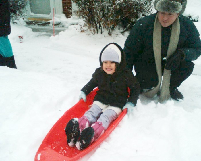 8. Sledding and spending time with little ones makes for some of the best winter memories.