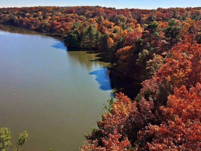 6. The Eagle Cliff Overlook at Starved Rock State Park offers one of the best points from which to see the glory of the Illinois River.