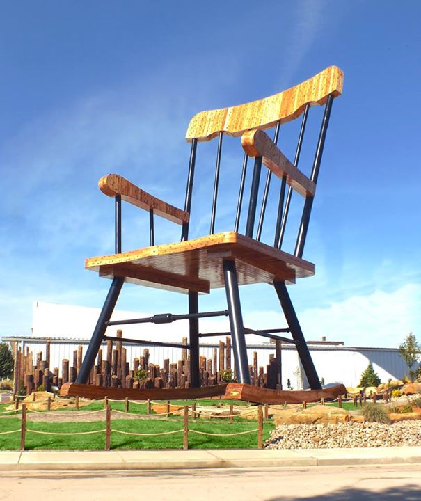 1. Want to relax? Take a load off in the World's Largest Rocking Chair. But it might take some climbing to get up there, as it is nearly 57 feet tall.