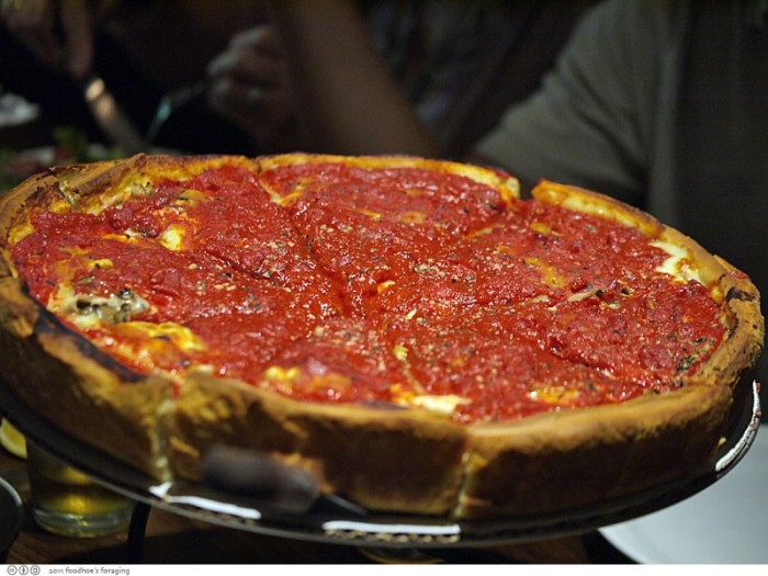 11. Deep dish pizza