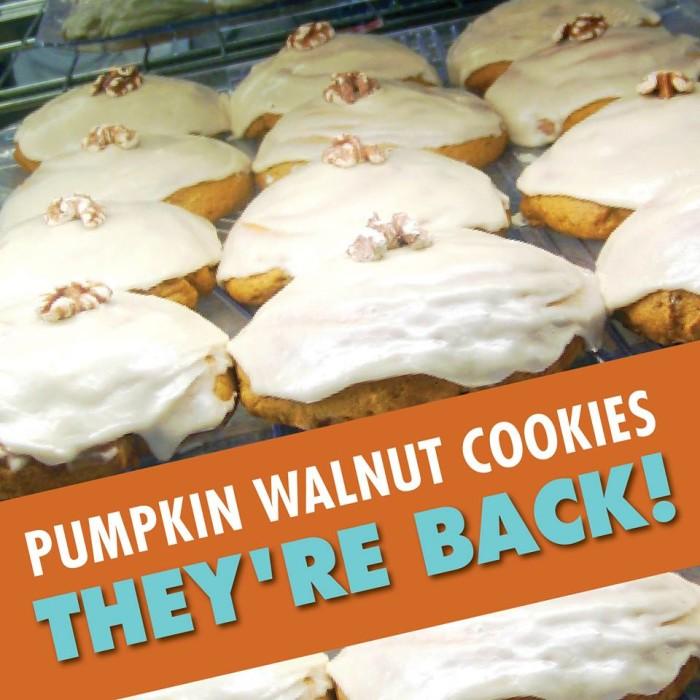 5. Pumpkin Walnut Cookies