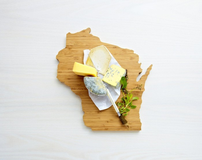 4. Wisconsin-shaped cutting board